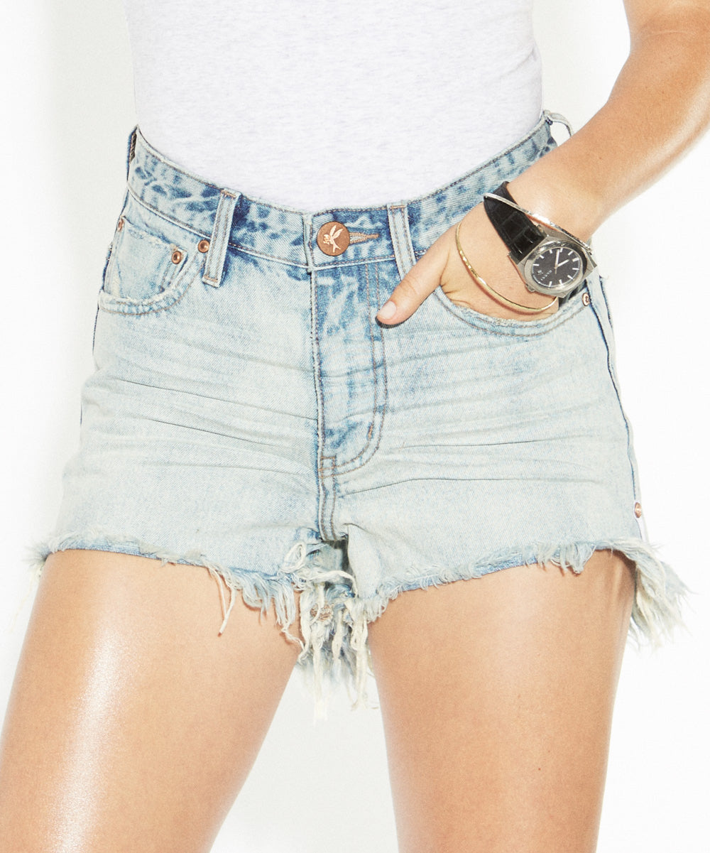 BONITA HIGH WAIST DENIM SHORTS
