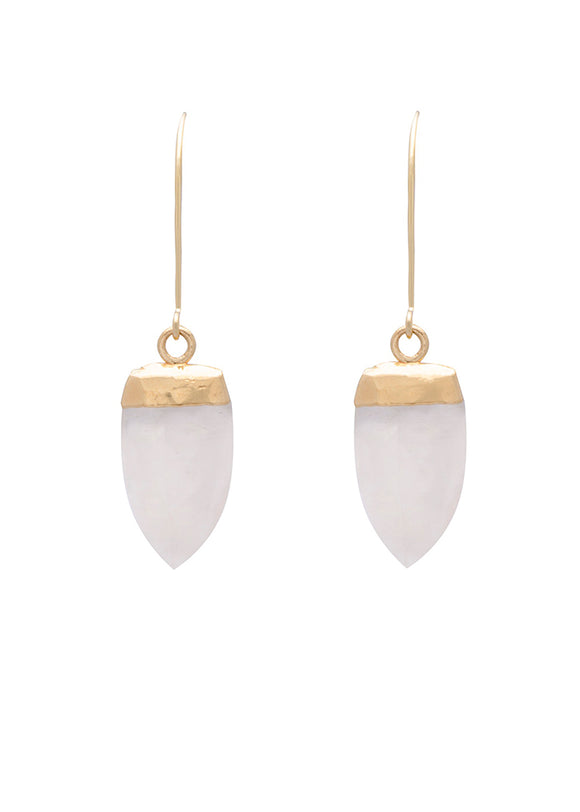 SM SPARK GOLD WITH MOONSTONE EARRING