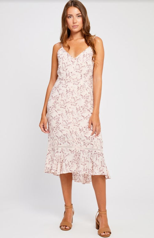 BELAFONTE SHELL SUMMERWINE DRESS GENTLEFAWN. Midi dress, tank style, Blush and Lace, Oakville, boutique, women's fashion, clothing, quality, upscale, trendy.