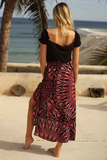 PAINTED LOVE WRAP SKIRT-PRINT