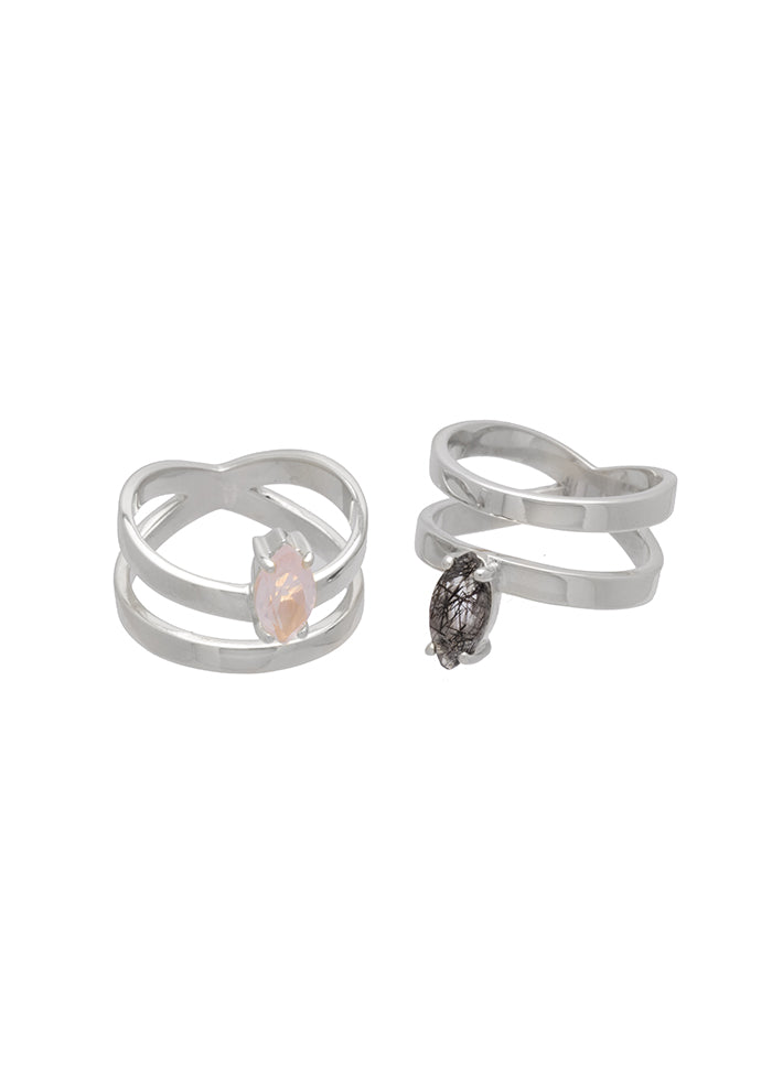 SM VERSE RING TOURMALINATED QUARTZ