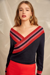 SCULPT KNIT TOP NAVY