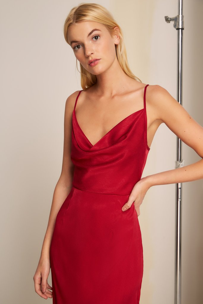 LOTTI SLIP DRESS CHERRY