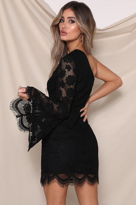 RUNAWAY THE LABEL – ROSIE DRESS BLACK LACE