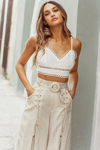 Broidery Bralette top, runaway the label, spaghetti straps, sweetheart neckline, cropped, Blush and Lace, fashion, Oakville, women's fashion.