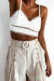 BROIDERY BRALETTE TOP WHITE