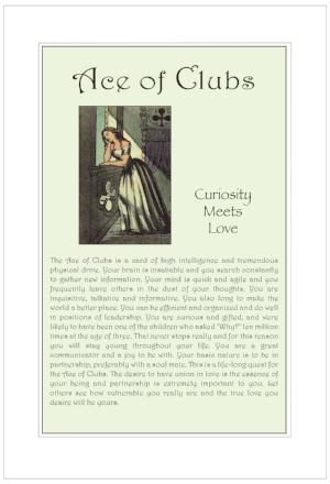 Ace of Clubs Birthday Card