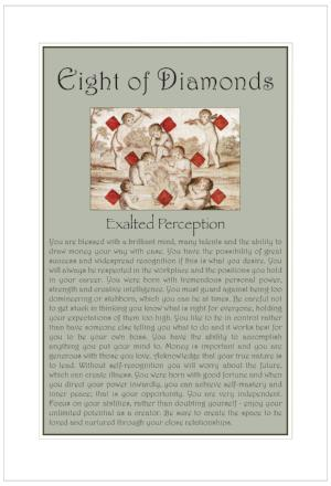 Eight of Diamonds Birthday Card