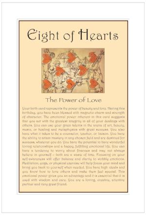 Eight of Hearts Birthday Card