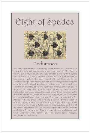 Eight of Spades Birthday Card