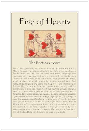 Five of Hearts Birthday Card