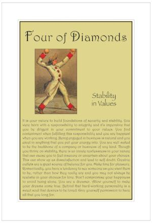 Four of Diamonds Birthday Card