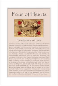 Four of Hearts Birthday Card