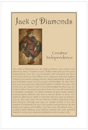 Jack of Diamonds Birthday Card