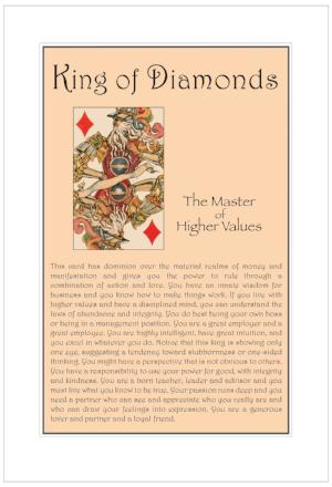 King of Diamonds Birthday Card