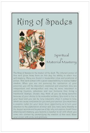 King of Spades Birthday Card