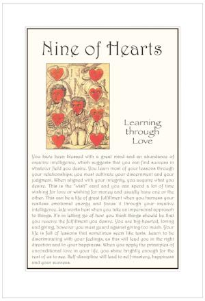 Nine of Hearts Birthday Card