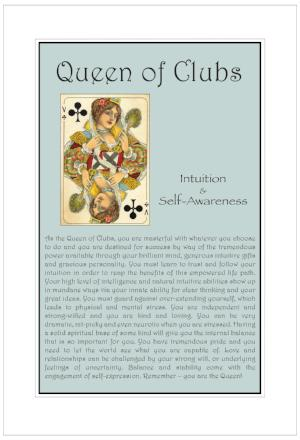 Queen of Clubs Birthday Card