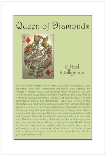 Queen of Diamonds Birthday Card