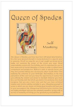 Queen of Spades Birthday Card