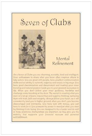Seven of Clubs Birthday Card