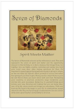 Seven of Diamonds Birthday Card