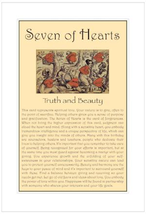 Seven of Hearts Birthday Card