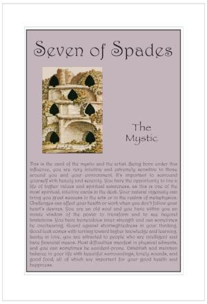 Seven of Spades Birthday Card