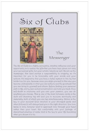 Six of Clubs Birthday Card