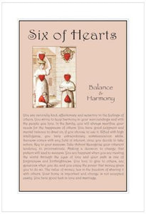 Six of Hearts Birthday Card