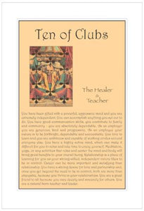Ten of Clubs Birthday Card