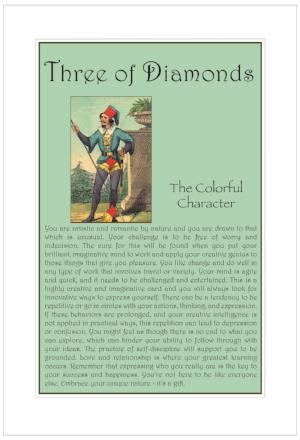 Three of Diamonds Birthday Card