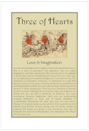 Three of Hearts Birthday Card
