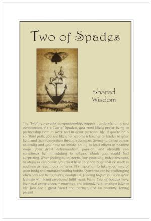 Two of Spades Birthday Card