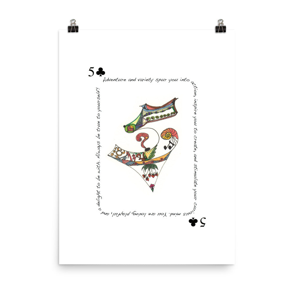 5 of Clubs Poster
