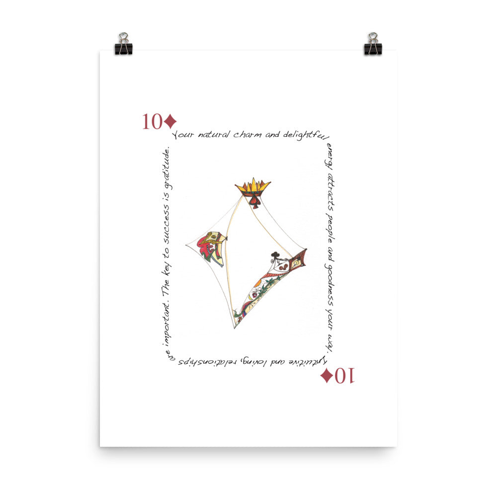 10 of Diamonds Poster