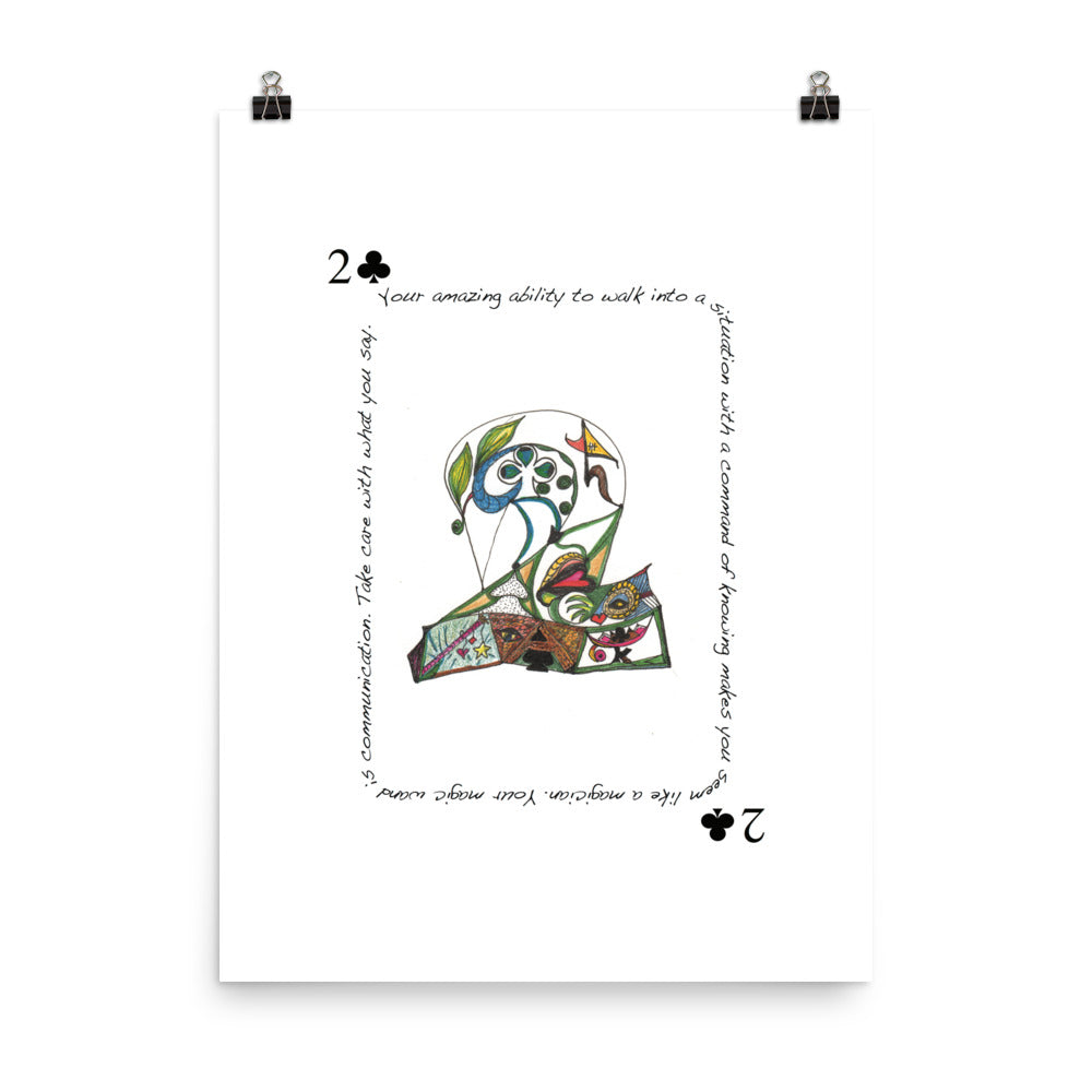 2 of Clubs Poster