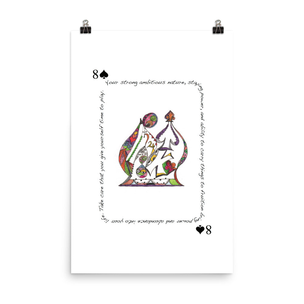 8 of Spades Poster