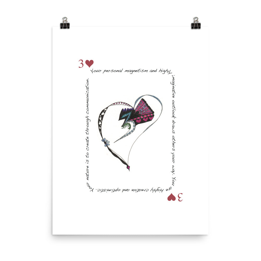 3 of Hearts Poster
