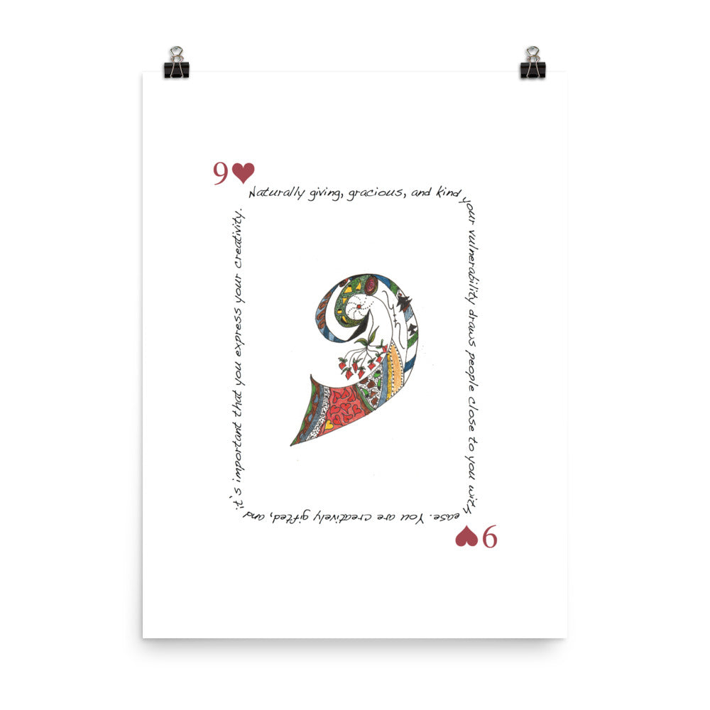 9 of Hearts Poster