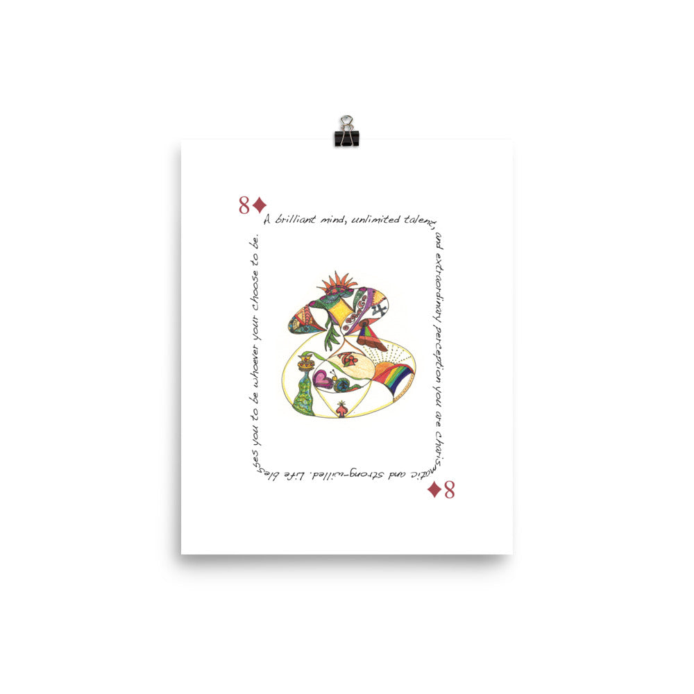 8 of Diamonds Poster
