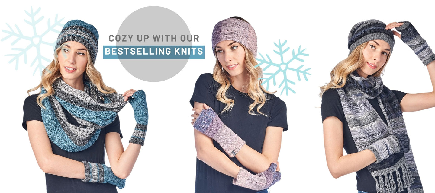 Your cold weather wardrobe does not begin and end with a plush coat. Functional accessories are also key to surviving any season in comfortable style. Our selection of beanies, hats, gloves, and socks come in a wide variety of colors and prints