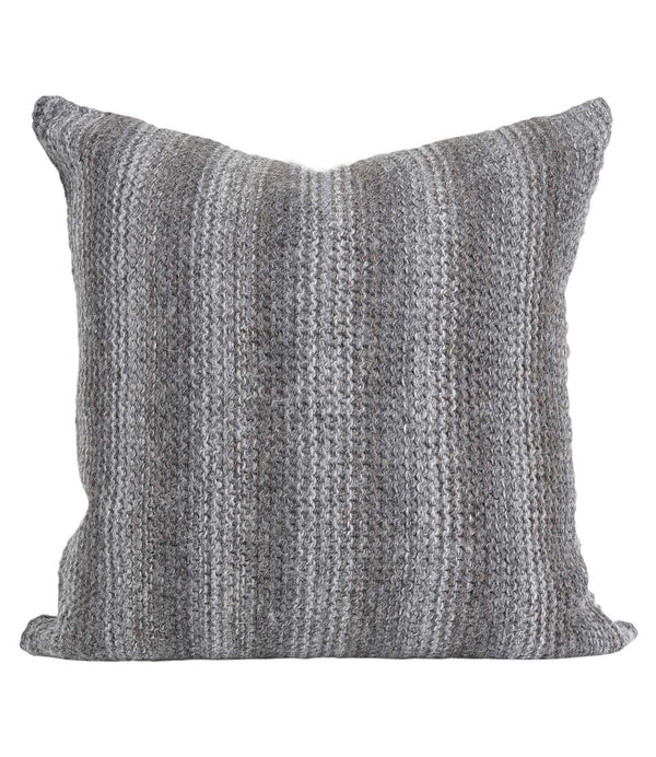 Alpaca Pillow Highland Burnt Charcoal by Shupaca