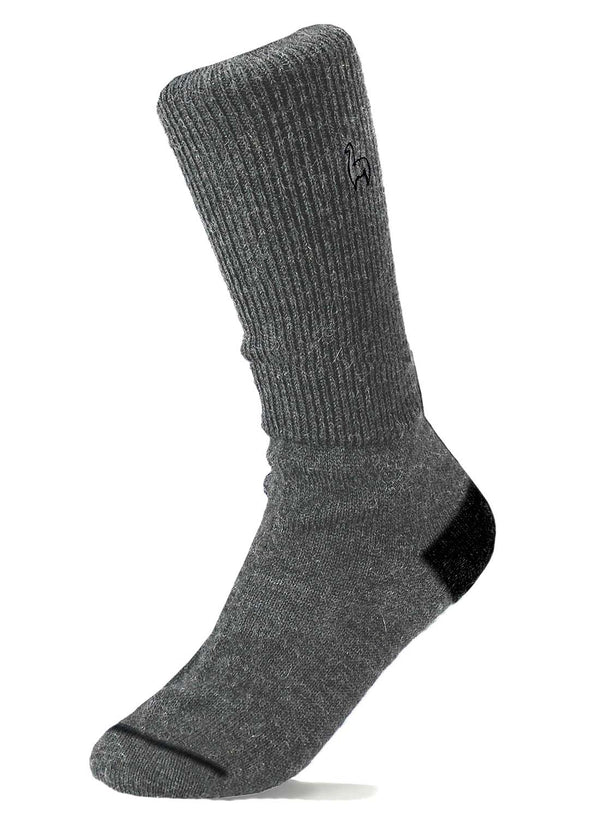 Alpaca Socks Business Charcoal by Shupaca