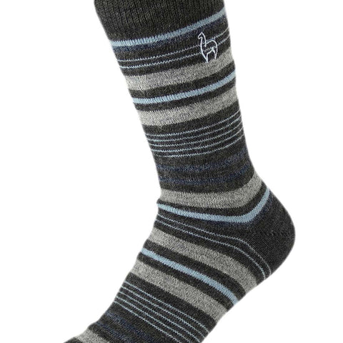Alpaca Socks Stripe Azul