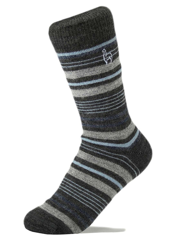 Alpaca Socks - Stripe - Azul