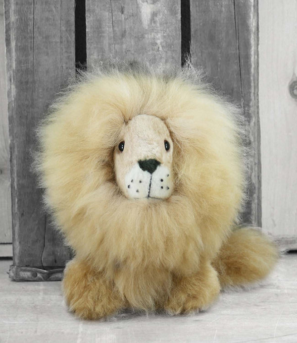 Alpaca Stuffed Animal - Lion - Small