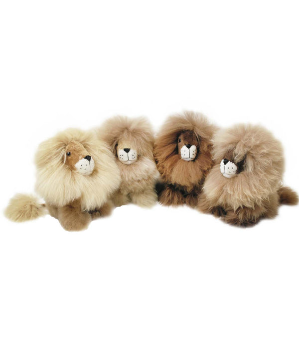"Alpaca Stuffed Animal Lion Small 9"" by Shupaca"