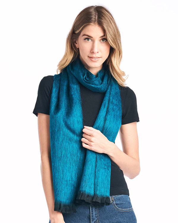 Alpaca Scarf Midnight Turquoise by Shupaca