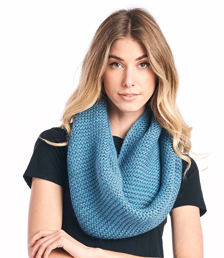 Alpaca Infinity Scarf - Highland - Turquoise